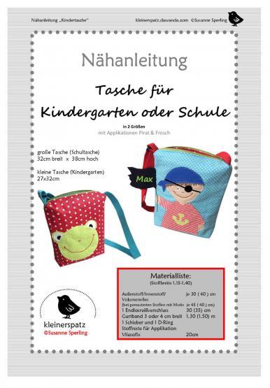 Kindergartentasche 2 Größen