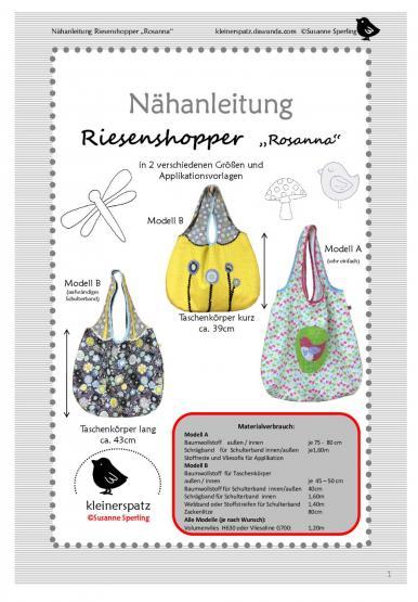 Riesenshopper Rosanna Gr. 39 + 43cm