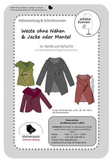 Weste/Jacke Ruckzuck Gr. 46/48 - 50/54