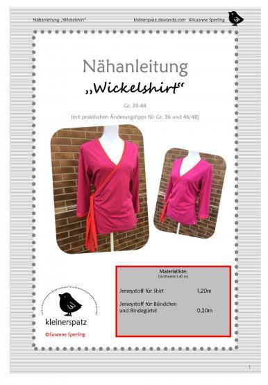 Wickelshirt Gr. 38 - 44
