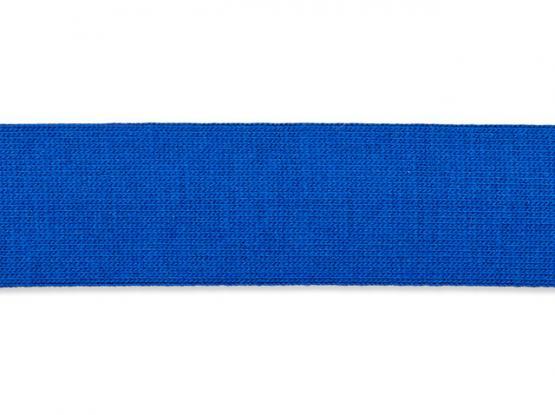 Jerseyband gefalzt 20/40mm blau
