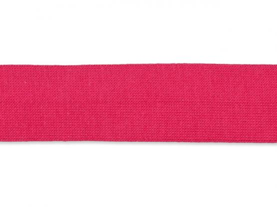 Jerseyband gefalzt 20/40mm pink