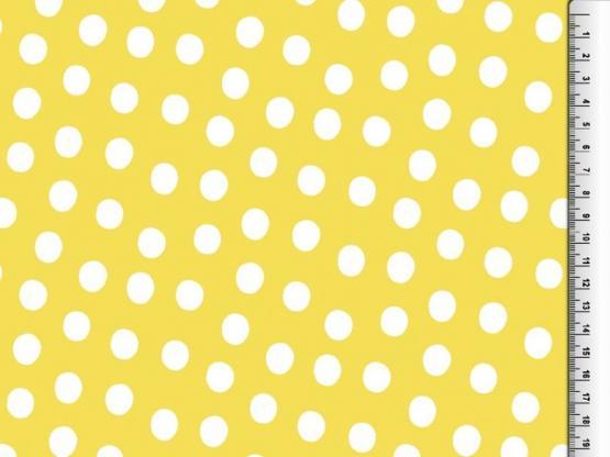 Regenstoff Punkte gelb/weiss