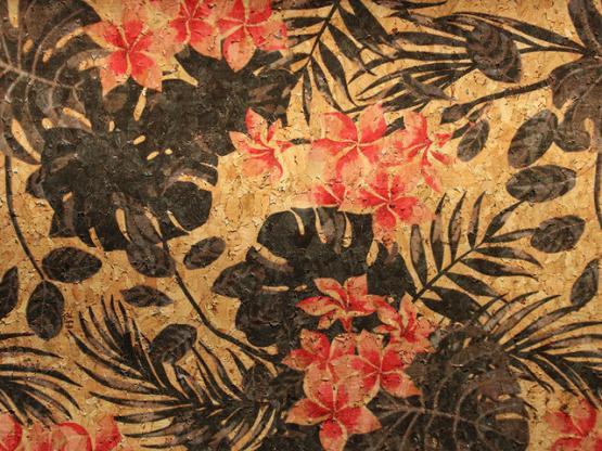 Kork Zuschnitt Blumen schwarz
