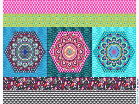 Pillow Party by jolijou pink/bunt