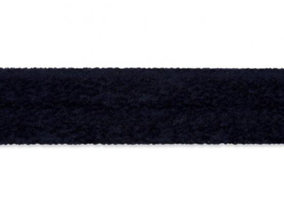 Wildlederimitatband 20mm dunkelblau