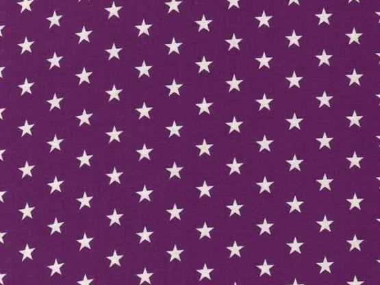 Baumwolle Sterne violett
