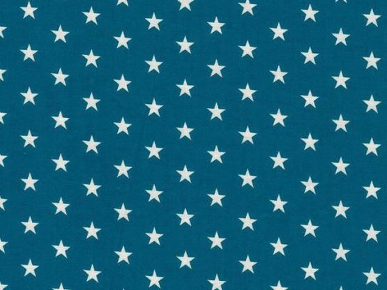 Baumwolle Sterne petrol