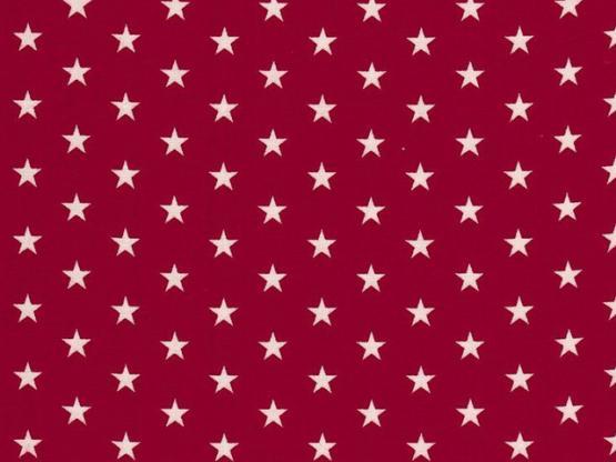 Baumwolle Sterne burgundy