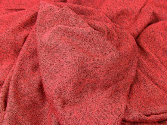 Strickstoff Lottchen rot/schwarz