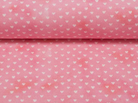 Jersey Mini Summer Herzen pink