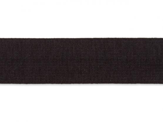 Jerseyband gefalzt 20/40mm schwarz