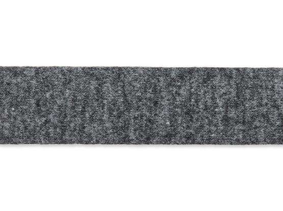 Jerseyband gefalzt 20/40mm anthrazit