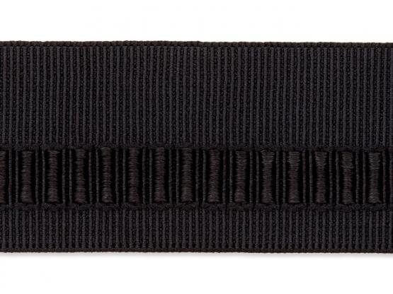 Gürtelgummi 40mm Struktur schwarz