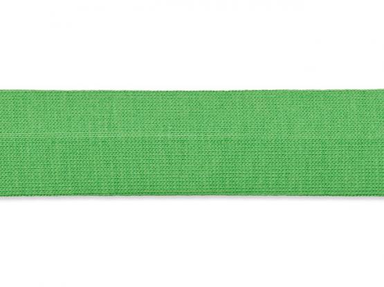 Jerseyband gefalzt 20/40mm mittelgrün