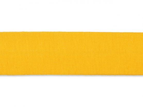 Jerseyband gefalzt 20/40mm gelb