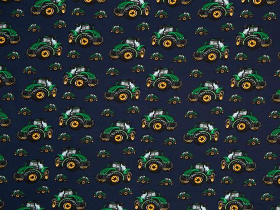 Mattes Jersey Traktoren dunkelblau