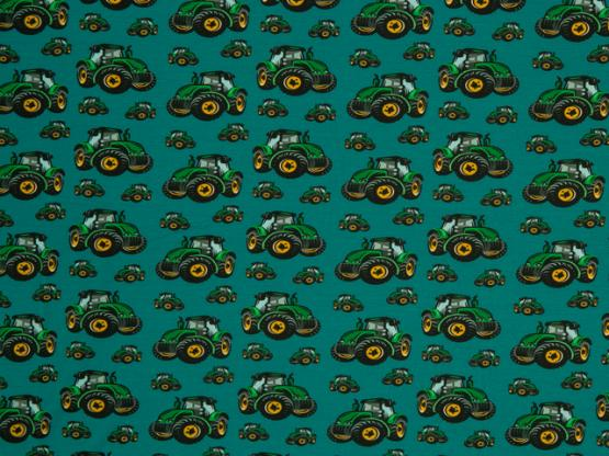 Mattes Jersey Traktoren türkis