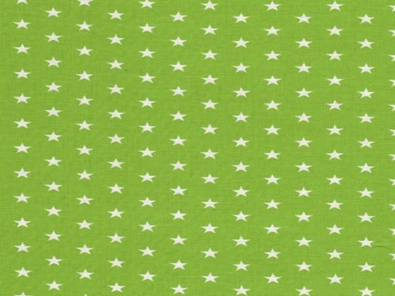 Baumwolle Sterne apfelgrün
