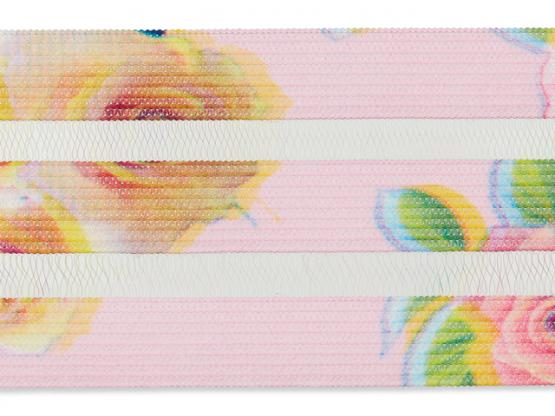 Gummiband 40mm transparent  Rosen