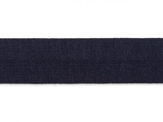 Jerseyband gefalzt 20/40mm d-blau