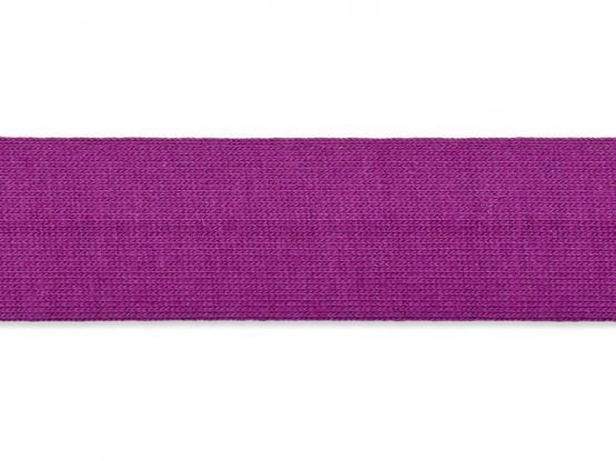 Jerseyband gefalzt 20/40mm purpur