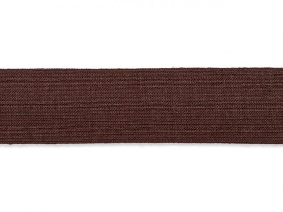 Jerseyband gefalzt 20/40mm dunkelbraun
