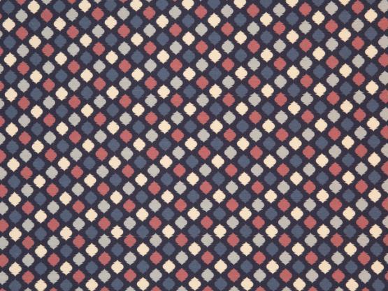 Jersey Estelle Ornamente blau/bunt
