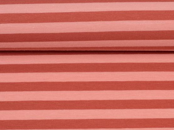 Isa Jersey Streifen burgundy/rosa
