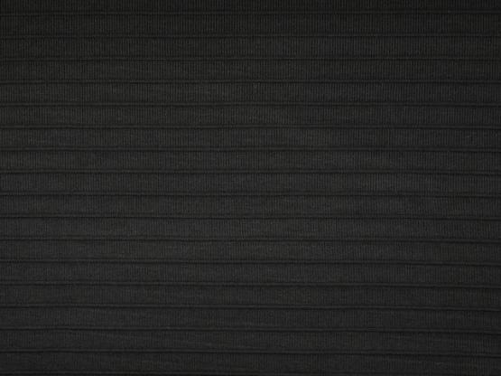 Strick Querrippe schwarz