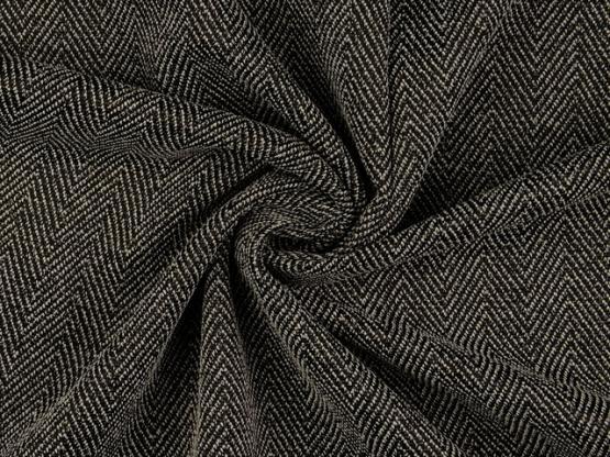 Tweed schwarz/grau