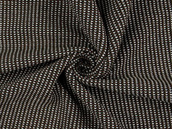 Jacquard Jersey schwarz/creme