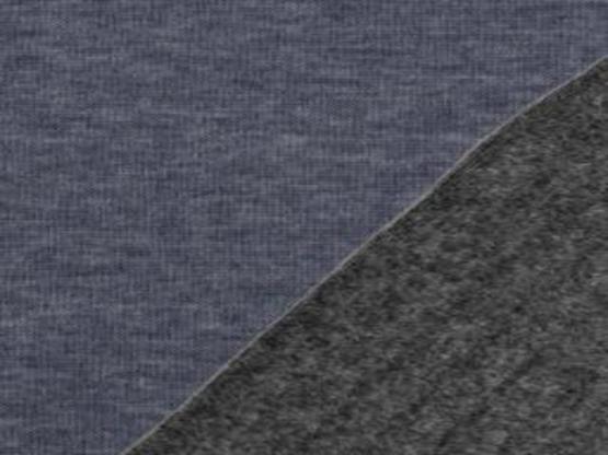 Alfons Alpenfleece meliert dunkelblau