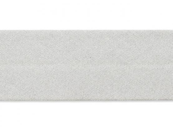 Schrägband  30mm silber