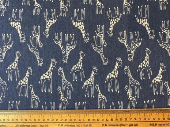 Jeans Giraffen blau/creme