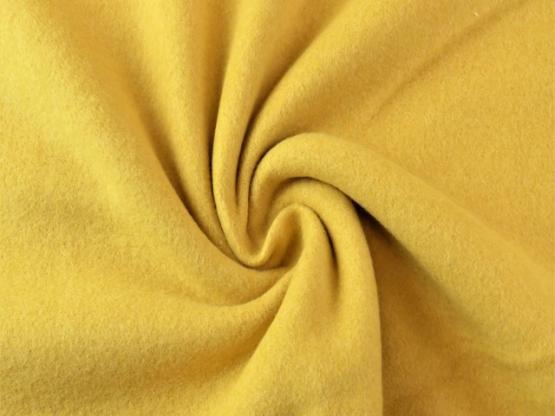 Baumwollfleece gelb melange