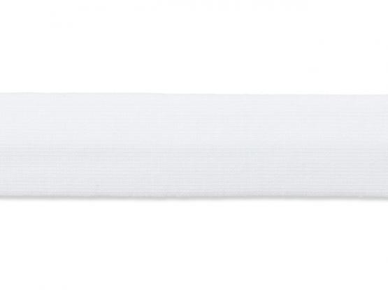 Jerseyband gefalzt 20/40mm weiss