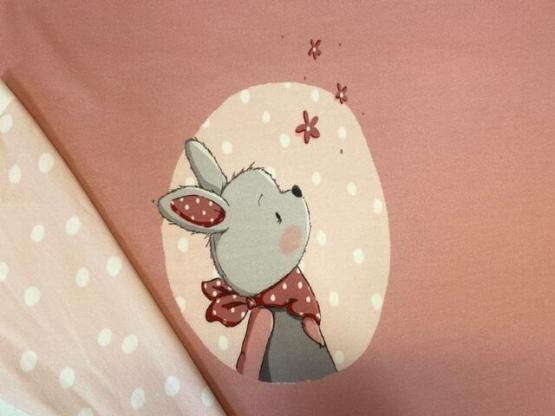 French Terry Panel Hase Luna