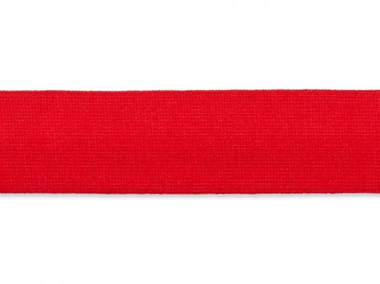 Jerseyband gefalzt 20/40mm rot