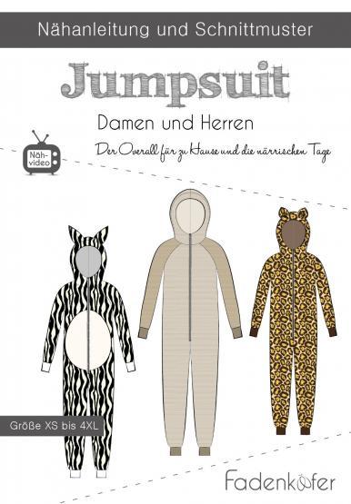 Papierschnittmuster Jumpsuite Damen/Herren