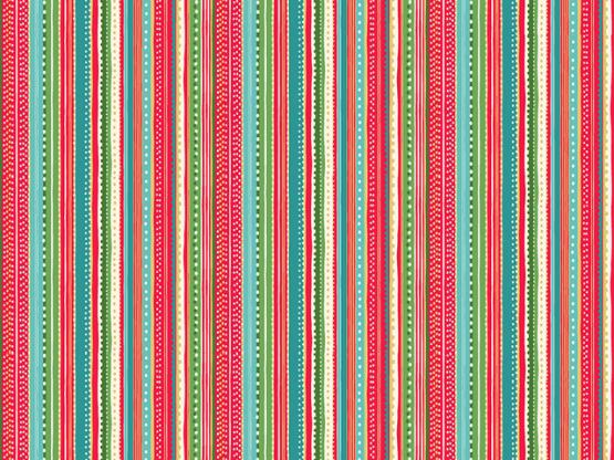 Let it snow Dotty stripe red