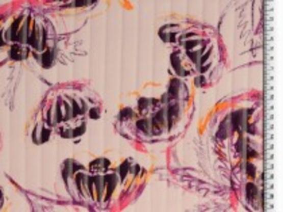 Blusenstoff bedruckt flieder