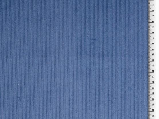 Cord uni jeansblau