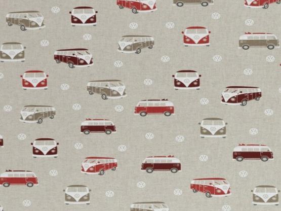 Emilio Deko VW Bus beige/rot