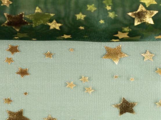 Organza Sterne grün